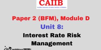 Interest Rate Risk Management: CAIIB