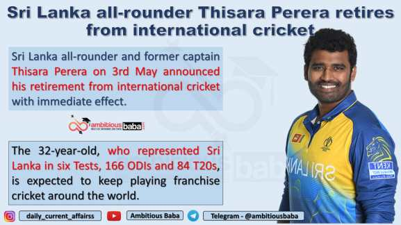 Sri Lanka all-rounder Thisara Perera retires from international cricket