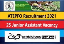 ATEPFO Recruitment 2021 : 25 Post for Junior Assistant