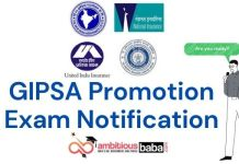 GIPSA Promotion Exam Notification