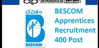 BESCOM Recruitment 2021 : 400 Post for Apprentices