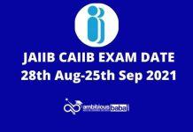 JAIIBCAIIB Exam Dates Out