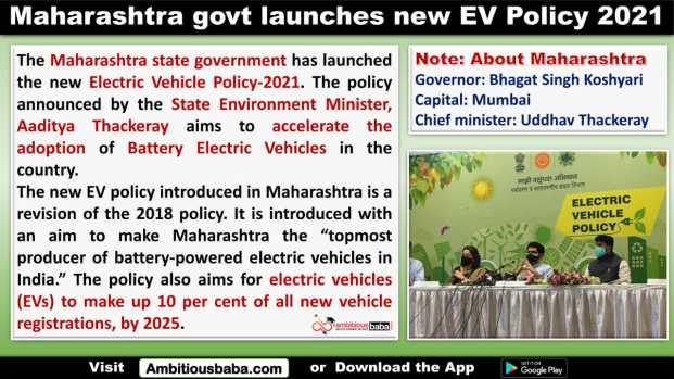 Maharashtra govt launches new EV Policy 2021