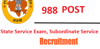Rajasthan PSC Recruitment 2021 : 988 Post for RAS/ RTS