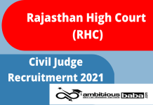 Rajasthan High Court Recruitment 2021 : 120 Post for Civil Judge