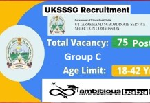 UKSSSC Recruitment 2021 : 75 Post for Group C (Cartographer and Surveyor)