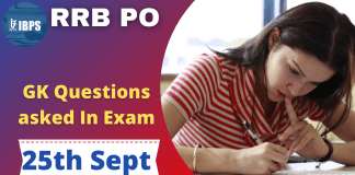 GK Questions asked in IBPS RRB PO 2021: 25th September 2021