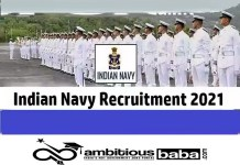 Indian Navy Recruitment 2021 : 181 Post for SSC Officer