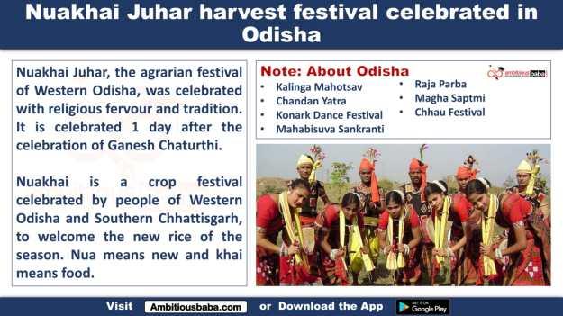 Nuakhai Juhar harvest festival celebrated in Odisha