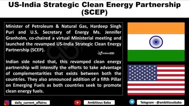 US-India Strategic Clean Energy Partnership (SCEP)