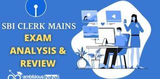 SBI Clerk Mains exam analysis