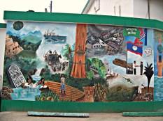 Mural of Belize History - San Ignacio
