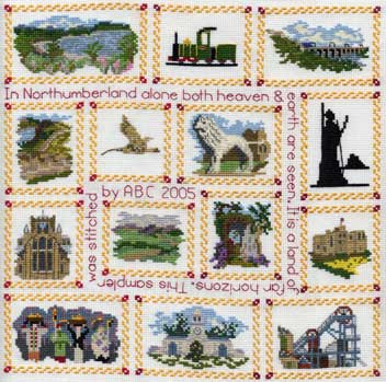 Northumberland Sampler Cross Stitch kit