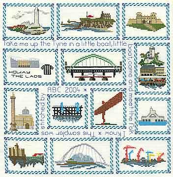 Tyneside Sampler Cross Stitch kit