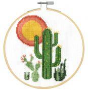 Desert Cactus – Counted Cross Stitch Kit DMC