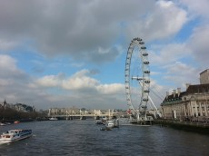 Looking down the Thames from the Jubillee Foot bridge (the original was constructed for Queen Victoria)
