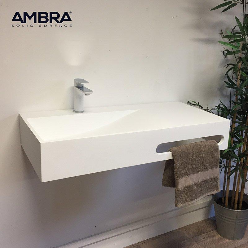 Vasque 90 Cm Suspendue En Solid Surface Granada Ambra Solidsurface Lavabo Baignoire Et Meubles De Douche Modernes Et De Qualite