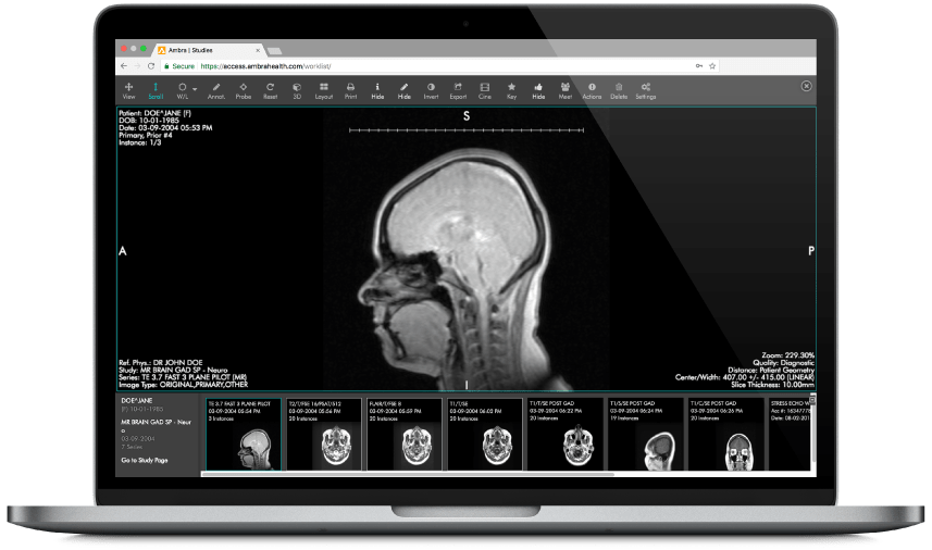 Image storage, exchange, viewing, and EHR integration.