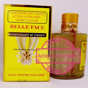 CONCENTRE SERUM BELLE FACE ACIDES DE FRUITS & VITAMINE E ANTI TACHES ACTION ULTRA FORT RESULTAT 5 JOURS