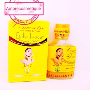 CONCENTRE BELLE FACE ACIDES DE FRUITS & VITAMINE E ANTI TACHES ACTION ULTRA FORT RESULTAT 5 JOURS