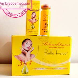 BLANCHISSEUR CONCENTRE BELLE FACE ACIDES DE FRUITS & VITAMINE E ANTI TACHES ACTION ULTRA FORT REVOLUTION 5 JOURS