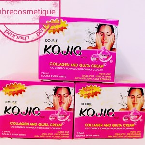 DOUBLE KOJIC & COLLAGEN & GLUTA CREME VISAGE CONTRE HYPERPIGMENTATION ULTRA ECLAIRCISSANTE