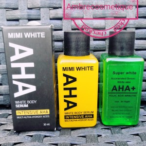 AHA MIMI WHITE & ALPHA ARBUTIN & KOJIC ACID SERUMS ULTRA ECLAIRCISSANTS 2 PIECES
