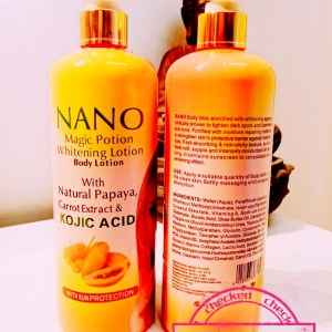 GAMME ECLAIRCISSANT NANO MAGIC POTION PAPAYA & CAROTTE & ACIDE KOJIQUE AVEC PROTECTION UV 4 PIECES