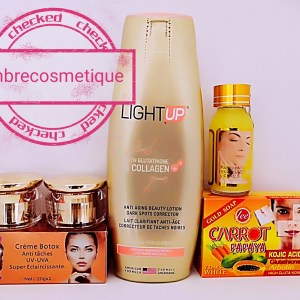 GAMME ECLAIRCISSANT LIGHT UP GLUTHATIONE & COLLAGENE & KOJIC CORRECTEUR DE TACHES NOIRES 5 PIECES