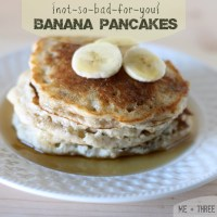 Not-so-bad-for-you Banana Pancakes