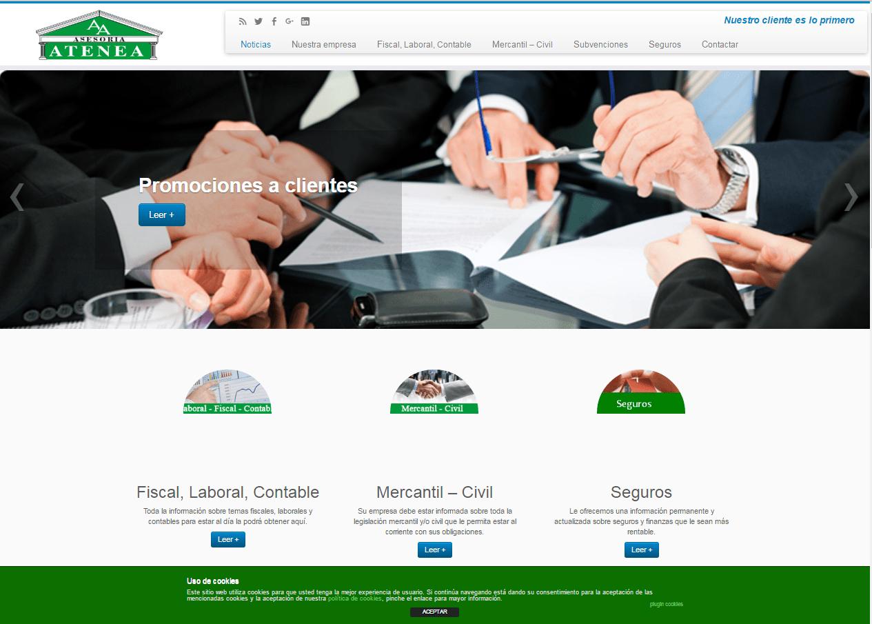 Diseño y administración de web asesoriaAtenea