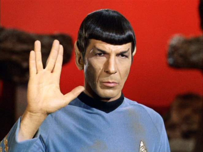 """LOS ANGELES - SEPTEMBER 15: Leonard Nimoy as Mr. Spock in """"Star Trek: The Original Series"""" episode 'Amok Time'. Spock shows the Vulcan salute, usually accompanied with the words, """"Live long and prosper."""" Original airdate, September 15, 1967. Image is a screen grab. (Photo by CBS via Getty Images)"""