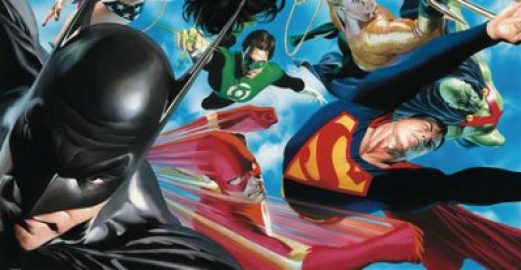"A antologia do ano, ""Os Maiores Super-Heróis do Mundo"" de Paul Dini e Alex Ross 