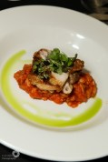 Grilled Thyme and Rosemary Chicken on a Haricot Bean and Pancetta Cassoulet