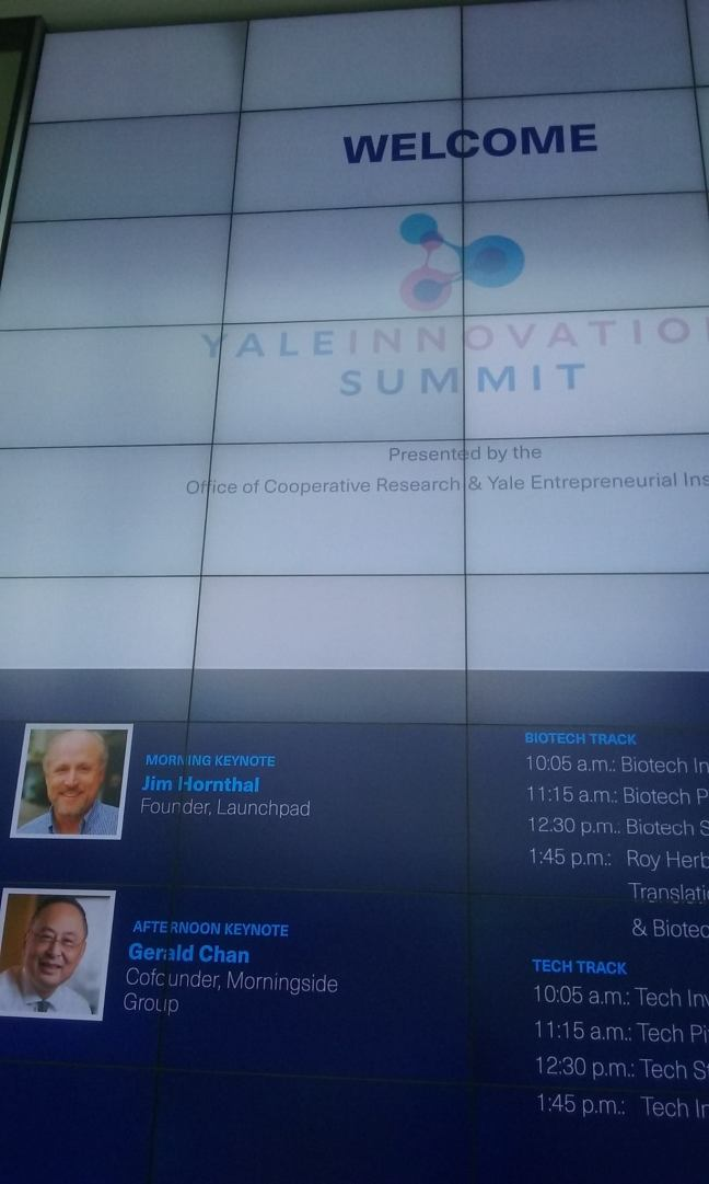 Yale Innovation summit splash screen