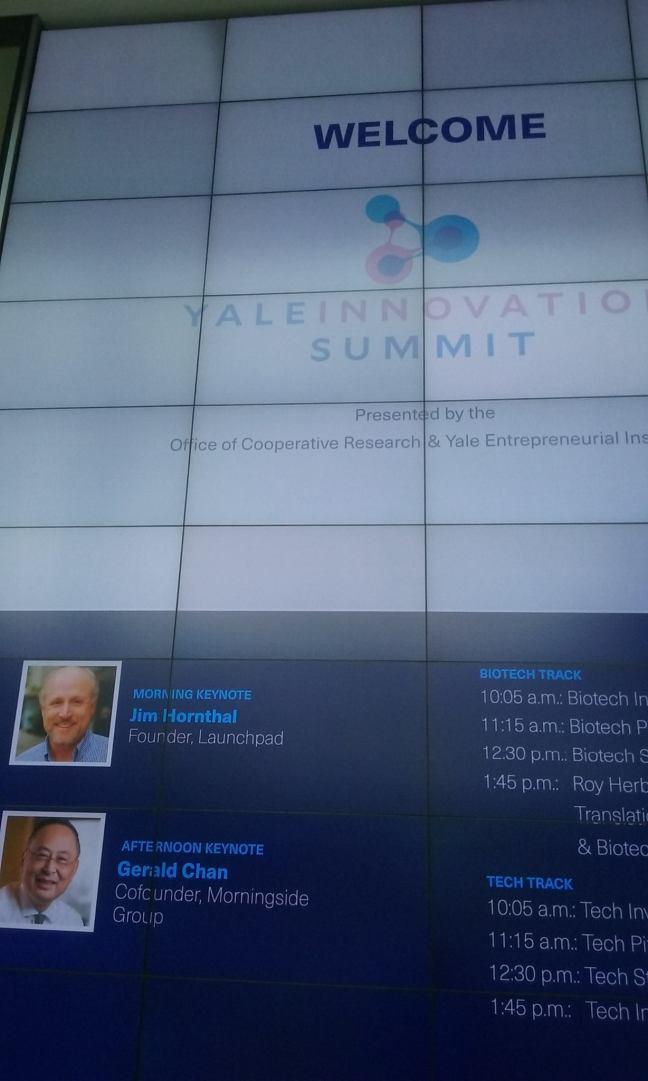 Yale Innovation summit splash screen