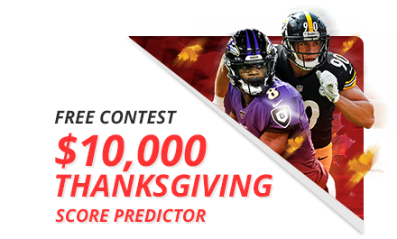 $10,000 Thanksgiving Score Predictor