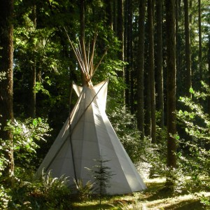 Women's yoga retreat tipi
