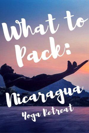 yoga retreat packing list Nicaragua