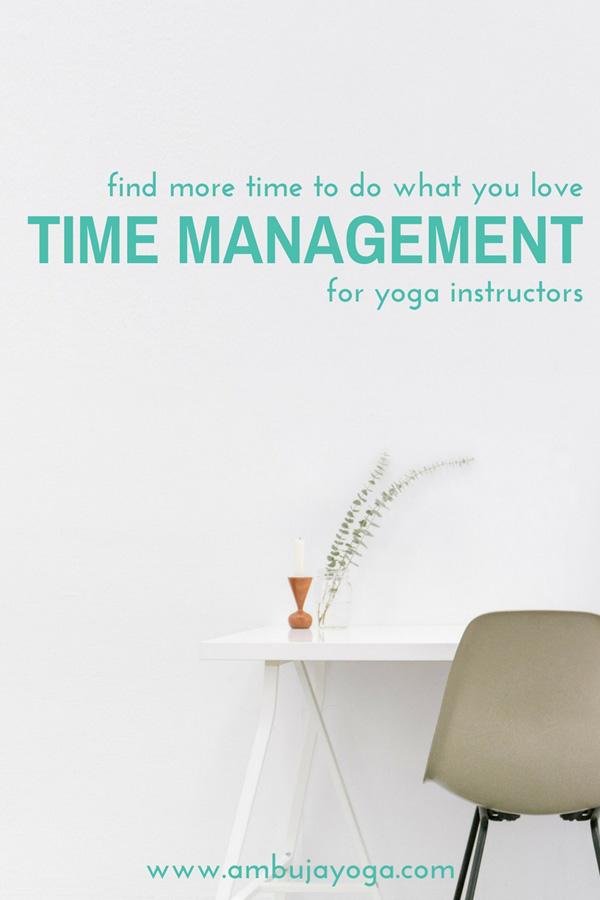 time management for yoga instructors