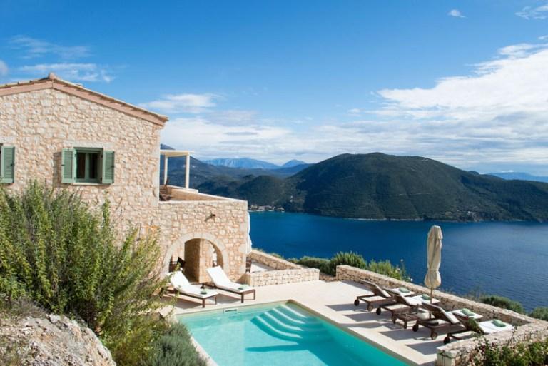 lefkada greece yoga retreat pool view