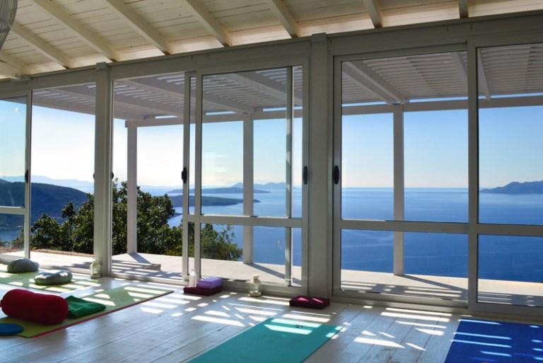 yoga retreat Ionian sea view