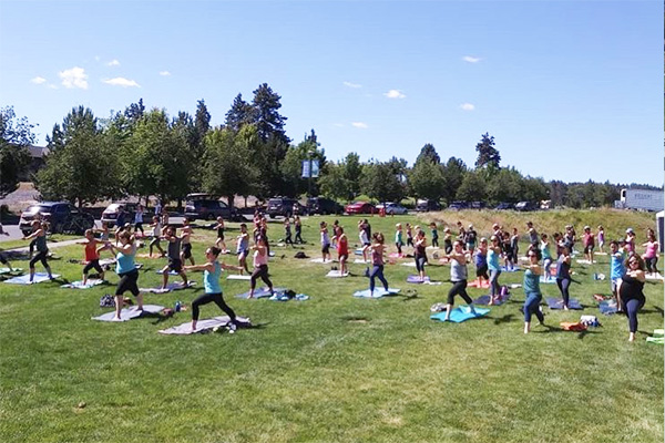 free yoga class Bend Oregon at Deschutes Brewery