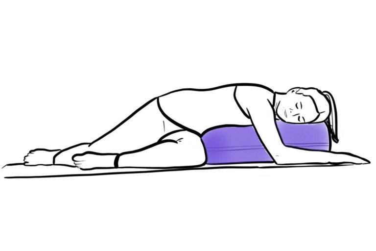 restorative twist yoga for grief