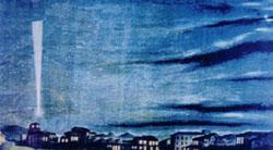 """""""Estrela de Caxias"""" pintado no Rio de Janeiro em 1843 por José dos Reis Carvalho, mestre de Desenho da Escola Naval (imagem obtida do site da AHIMTB). Foto restaurada com auxílio de computação, pelo Capitão-de-Fragata Carlos Norberto Stumpf Bento."""