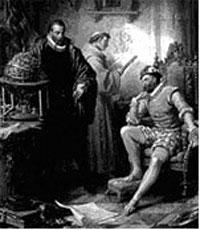 Rodolfo II consultando Tycho