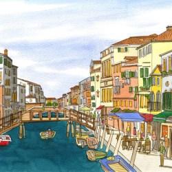 Sleepy canals of Cannaregio, Venice