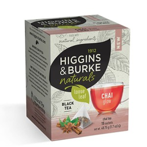 Higgins and Burke Chai Glow Loose Leaf Pyramid Tea