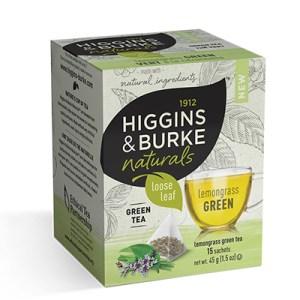 Higgins and Burke Lemongrass Green Loose Leaf Pyramid Tea