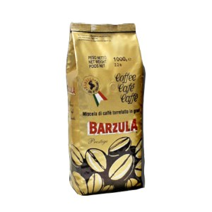 Barzula Prestige Whole beans 1kg bag